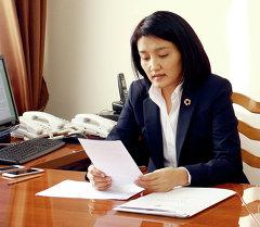 Министр образования и науки Эльвира Сариева. Архивное фото
