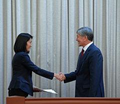 Алмазбек Атамбаев принял участие в церемонии принесения присяги новыми членами Правительства Кыргызской Республики