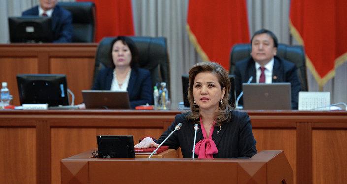 Вице-премьер-министр Кыргызской Республики Дамира Ниязалиева