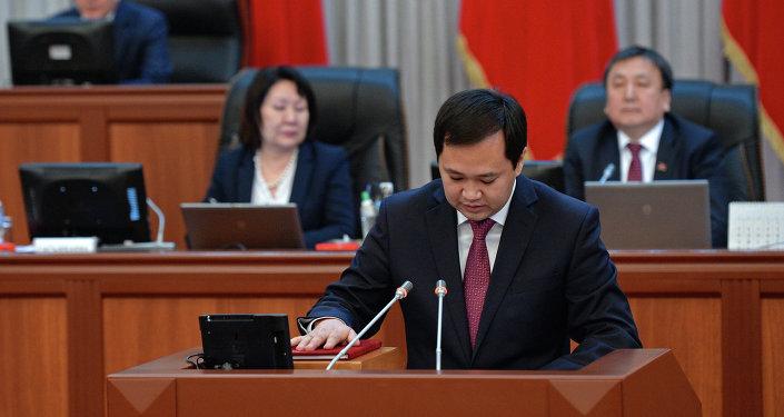Министр труда, миграции и молодежи Кыргызской Республики Айбек Азыранкулов