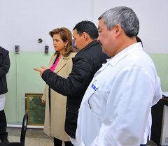 Вице-премьер-министр Кыргызской Республики Дамира Ниязалиева посетила Национальный центр онкологии