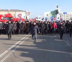Митинговавшие за исламские ценности в Чечне выпустили в небо воздушные шары
