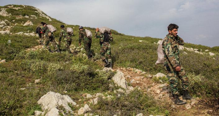 Военнослужащие правительственной армии Сирии. Архивное фото