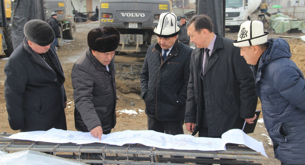 Строительство эстакадного моста в городе Ош