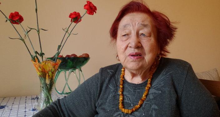 Председатель Общества блокадников Ленинграда Анна Кутановаю Архивное фото