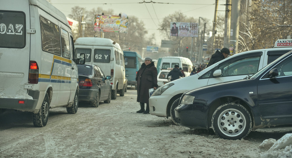 Женщина ожидает маршрутный автобус на остоновке. Архивное фото