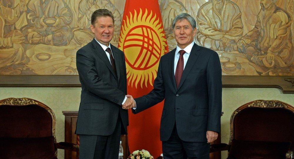 Президент Алмазбек Атамбаев принял председателя правления ОАО «Газпром» Алексея Миллера