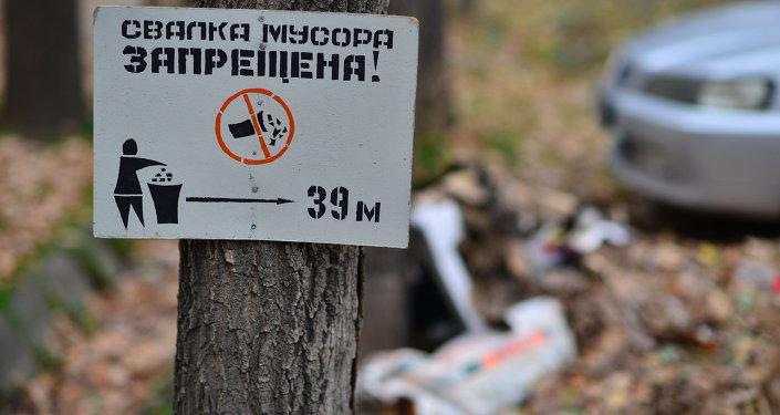"Табличка ""Свалка мусора запрещена"". Архивное фото"