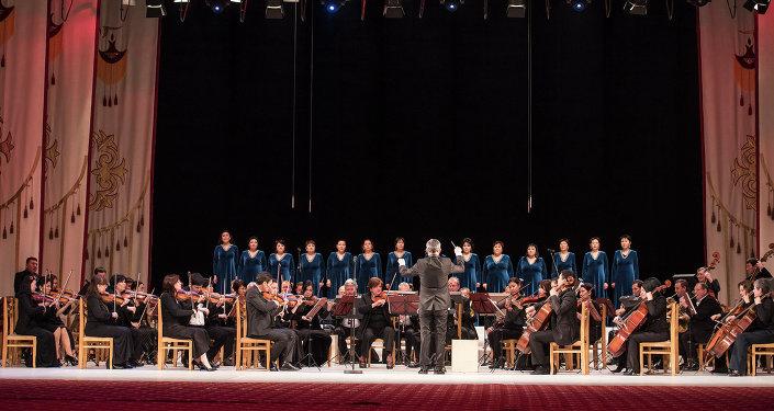 Кыргыз Улуттук филармониясында концерт. Архив