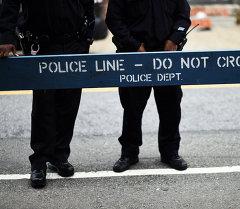 Полицейский барьер в Нью-Йорке