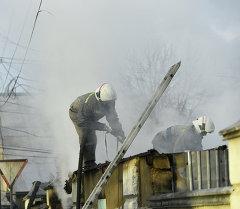 Пожар в здании кафе Бишкек
