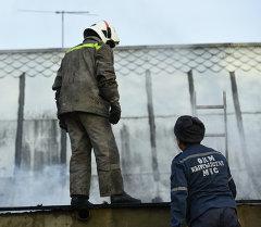 Сотрудники пожарной службы и МЧС на месте возгорания. Архивное фото