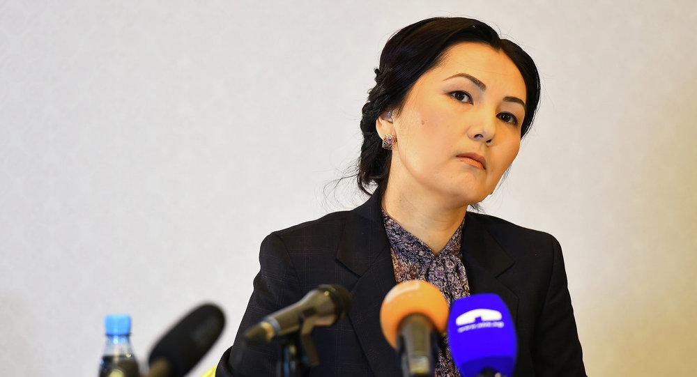 Брифинг экс-генерального прокурора Аиды Саляновой