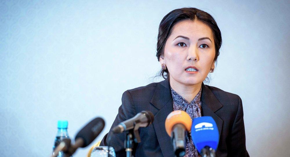 Мурунку башкы прокурор Аида Салянова. Архивдик сүрөт