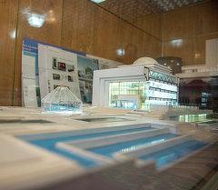 Макет здания Государственного музея в будущем.
