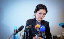Мурдагы башкы прокурор Аида Салянова. Архивдик сүрөт