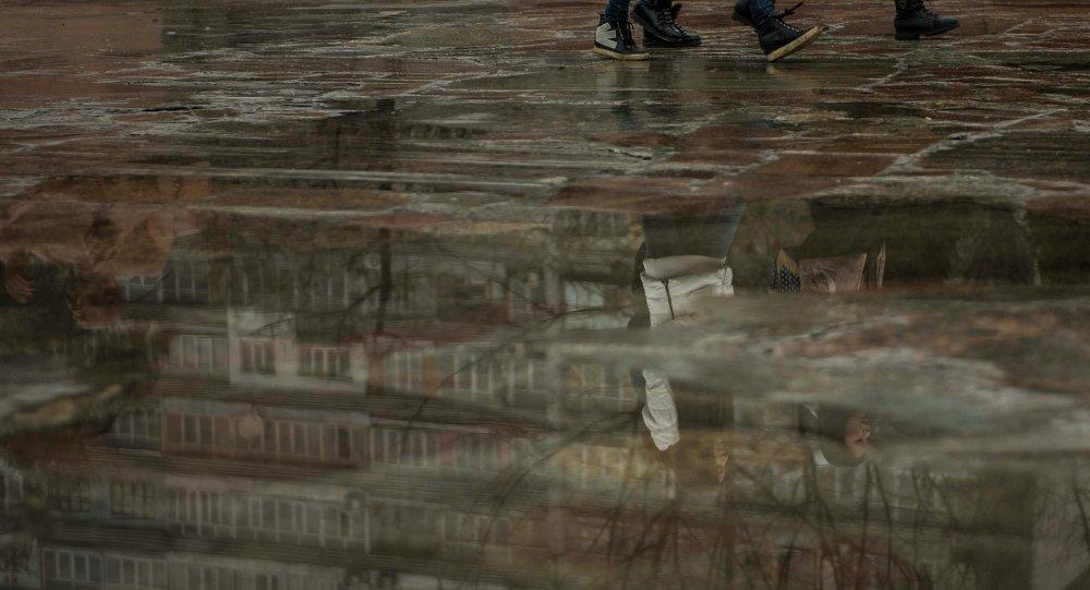 Дождь в Бишкеке. Архивное фото