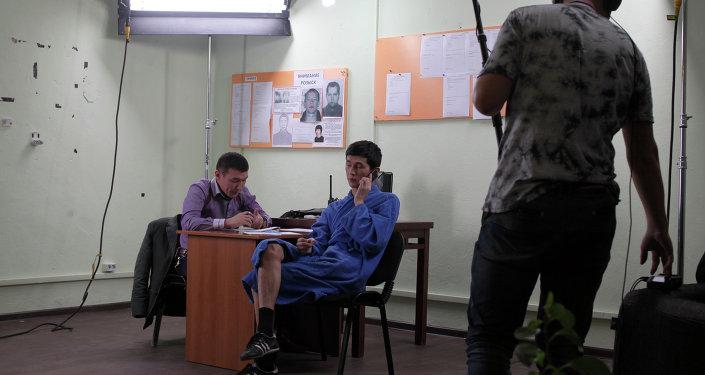 Кадр съемок кинокомедии Биртууганчик.