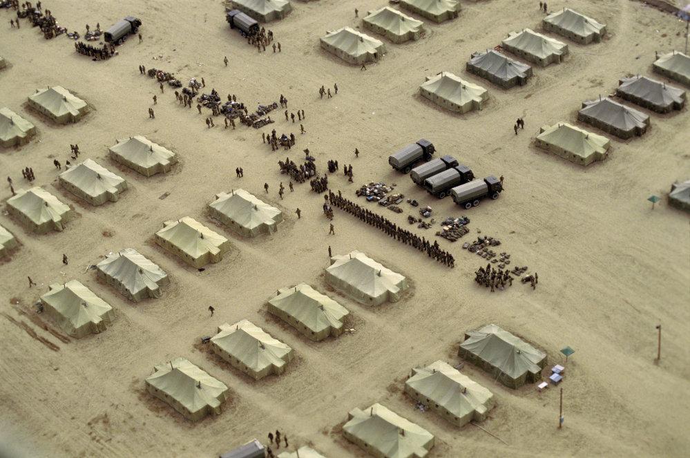 На военной базе в городе Хайратоне во время сборов домой