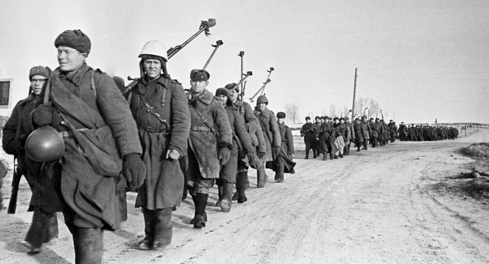 Бойцы противотанкового батальона