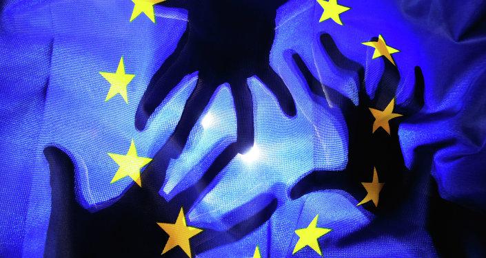Флаг Евросоюза . Архивное фото