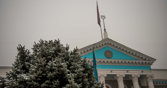 Фасад здании мэрии города Бишкек. Архивное фото
