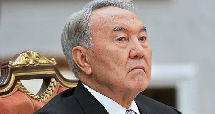 Архивное фото экс-президента Казахстана Нурсултана Назарбаева
