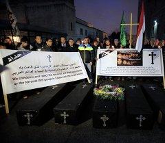 Символические похороны 21 египетских христианин-копта
