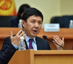 Премьер-министр Темир Сариев Темир Сариев. Архивное фото