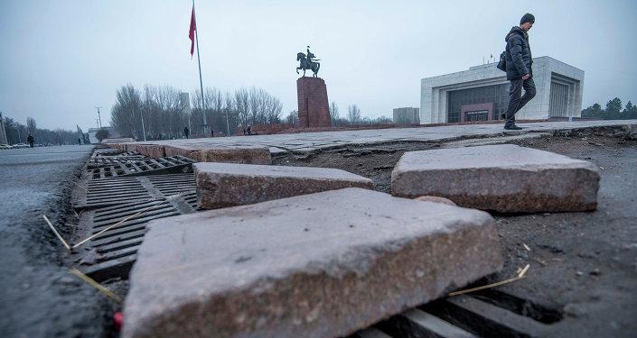 Внешний облик центральной площади столицы Кыргызстана