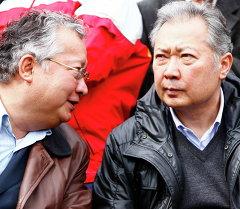 Митинг сторонников президента Киргизии Курманбека Бакиева