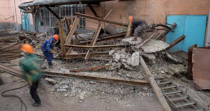 На ТЭЦ Бишкека начался демонтаж котлоагрегата и турбогенератора