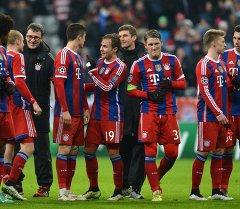 Игроки Баварии радуются победе. Архивное фото
