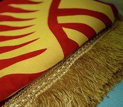 Кыргызстандын улуттук желеги. Архив