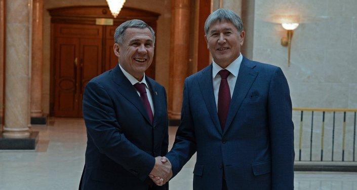Президент Алмазбек Атамбаев встретился с Президентом Татарстана Рустамом Миннихановым