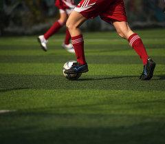 Во время матча в футболе. Архивное фото