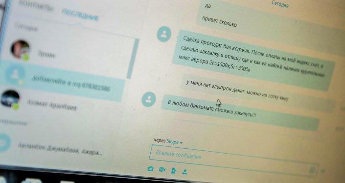 Снимок разговора в чате Skype