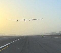 Первый этап кругосветки самолета на солнечных батареях: из Абу-Даби в Маскат