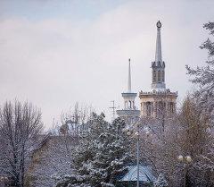 Кыргызстандын Эл Аралык Университети кышында. Архив