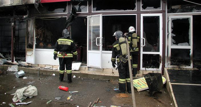 Татарстандын борбор шаары Казань шаарындагы Адмирал соода борборунда чыккан өрт