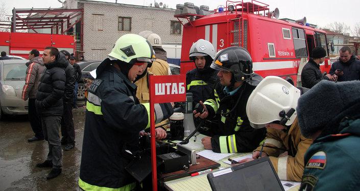 На месте события был развернут штаб по ликвидации пожара.