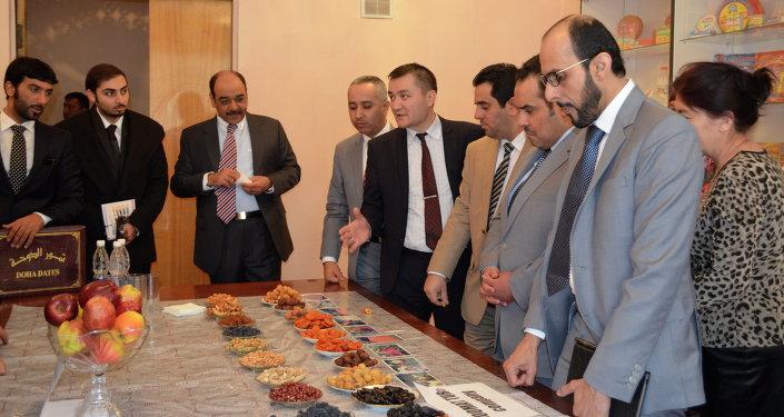 Катарлык делегация кызматташуу үчүн кыргызстандык айыл чарба продукцияларын өндүрүүчүлөр менен жолугушууда.