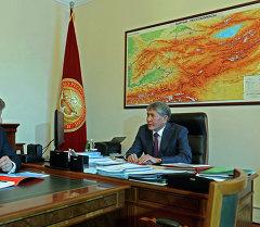 Алмазбек Атамбаев РусГидро ААК башкармалыгынын төрагасы Евгений Додду кабыл алды