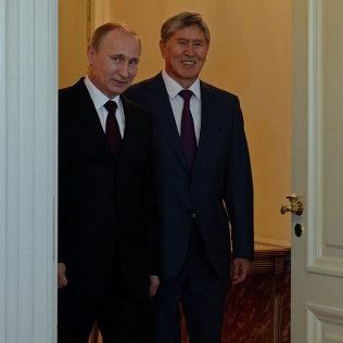 В городе Санкт-Петербург проходит встреча Президента Алмазбека Атамбаева и Президента Владимира Путина