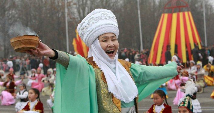 Празднование Нооруз в Бишкеке. Архивное фото