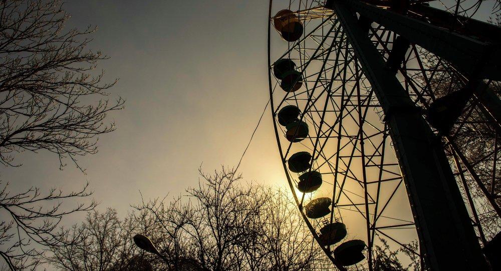 Аттракцион Чертово колесо в Парке имени Панфилова. Архивное фото