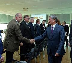 Алмазбек Атамбаев принял участие в кыргызско-австрийском бизнес-форуме