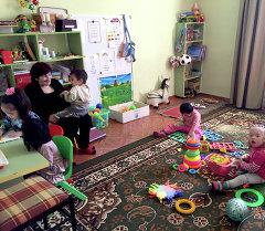 Бишкекте Дауна синдрому бар балдар үчүн ачылган Юниор парк деп аталуучу өлкөдөгү жалгыз бала бакча иштейт.