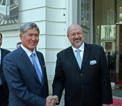 Алмазбек Атамбаев Ламберто Заньер менен жолукканын президенттин маалымат кызматы билдирди.