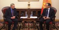 Встреча премьер-министра Кыргызстана с замминистра энергетики России